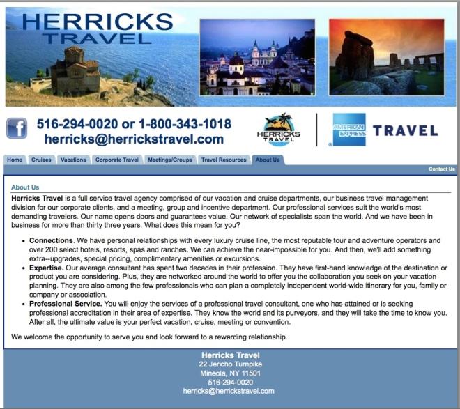 Herricks Travel American Express