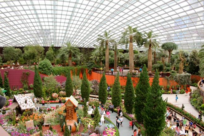 The Flower Dome at Gardens by the Bay, Singapore