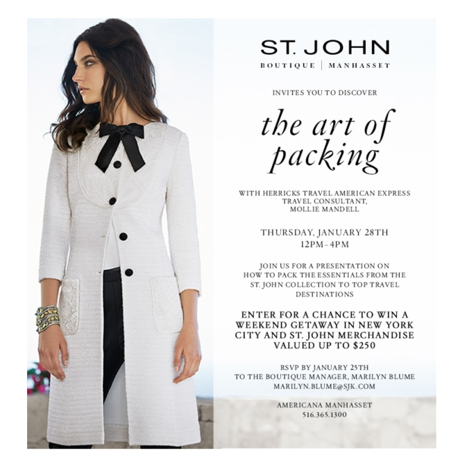 The Art of Packing, Herricks Travel American Express & St. John