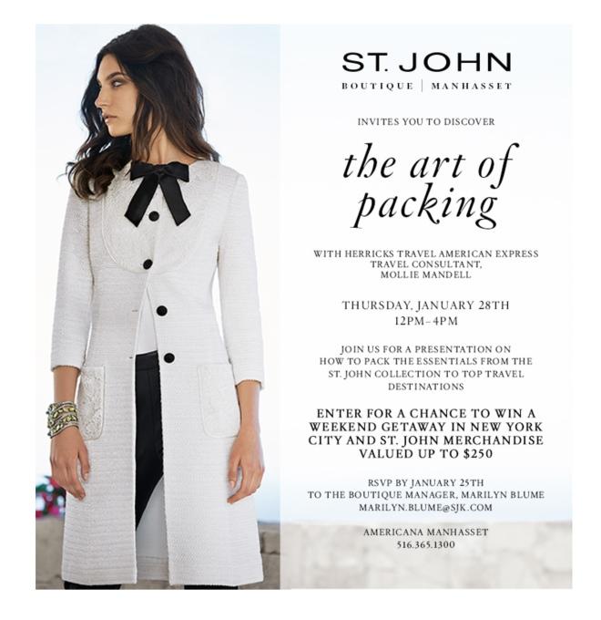 The Art of Packing, Herricks Travel American Express & St. John