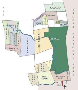 Sabi Sands Reserve Map