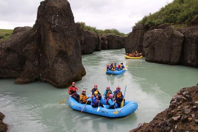 River rafting, Hvita River, Iceland